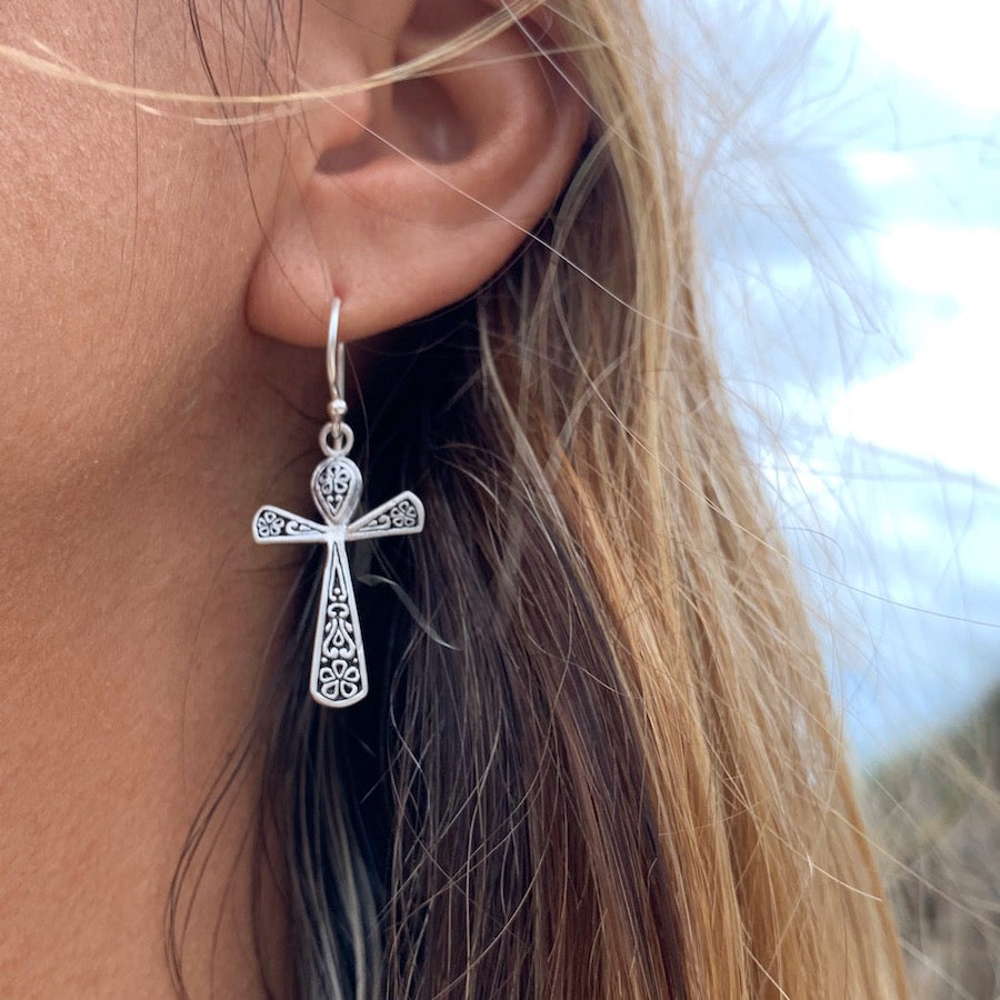 Ankh silver Earrings