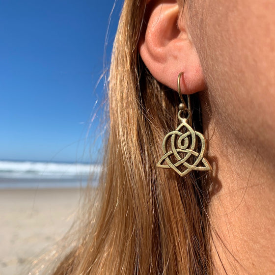 CELTIC HEART Brass earrings