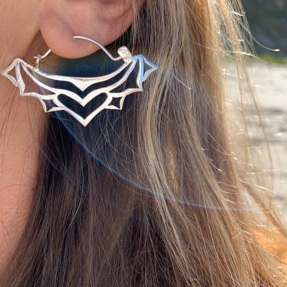 HEART TRIBAL silver earrings