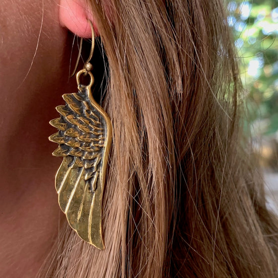 ANGEL WING Brass Earrings
