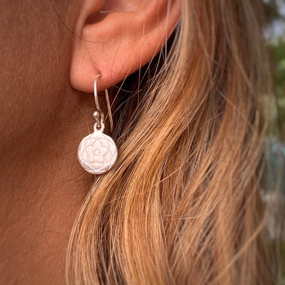 Rose Of Venus Sacred Geometry silver Earrings
