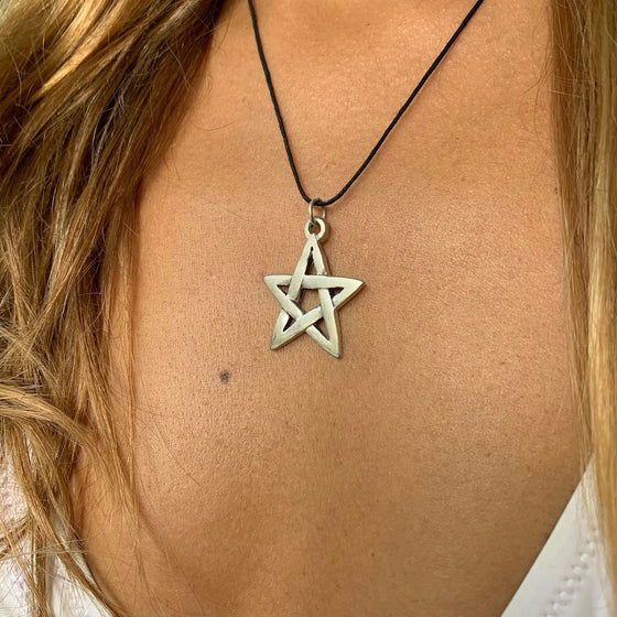 Pentagram Necklace Silver Pendant