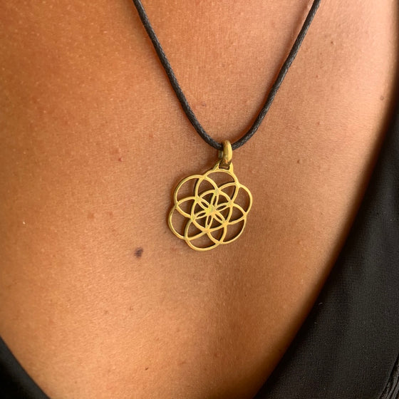 Seed of Life brass Pendant sacred geometry necklace