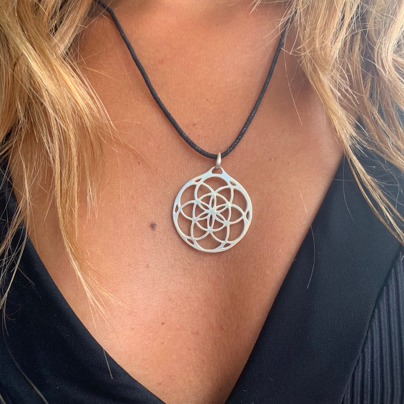Seed of Life silver Pendant sacred geometry necklace