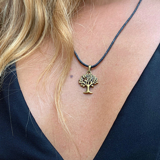 Tree Of Life Necklace small Brass Pendant