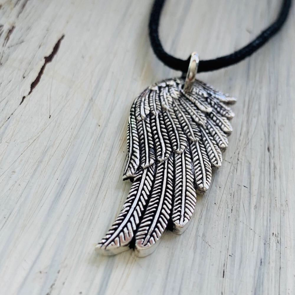 Angel Wing Silver Pendant necklace