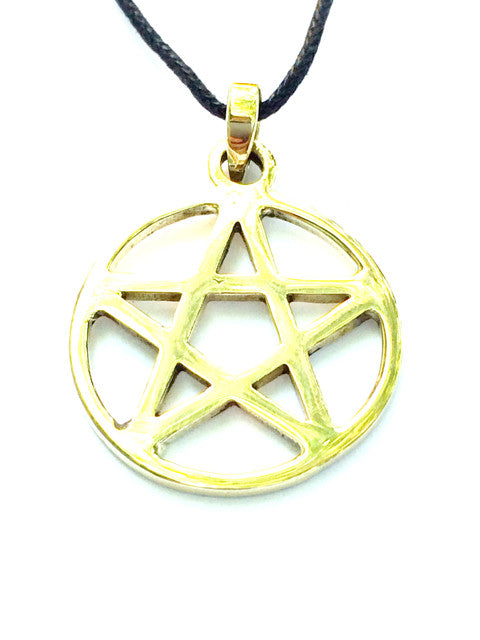 Pentagram Necklace Brass Pendant