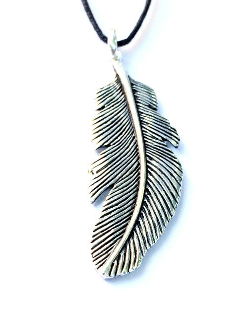 Eagle Feather Necklace Silver Pendant