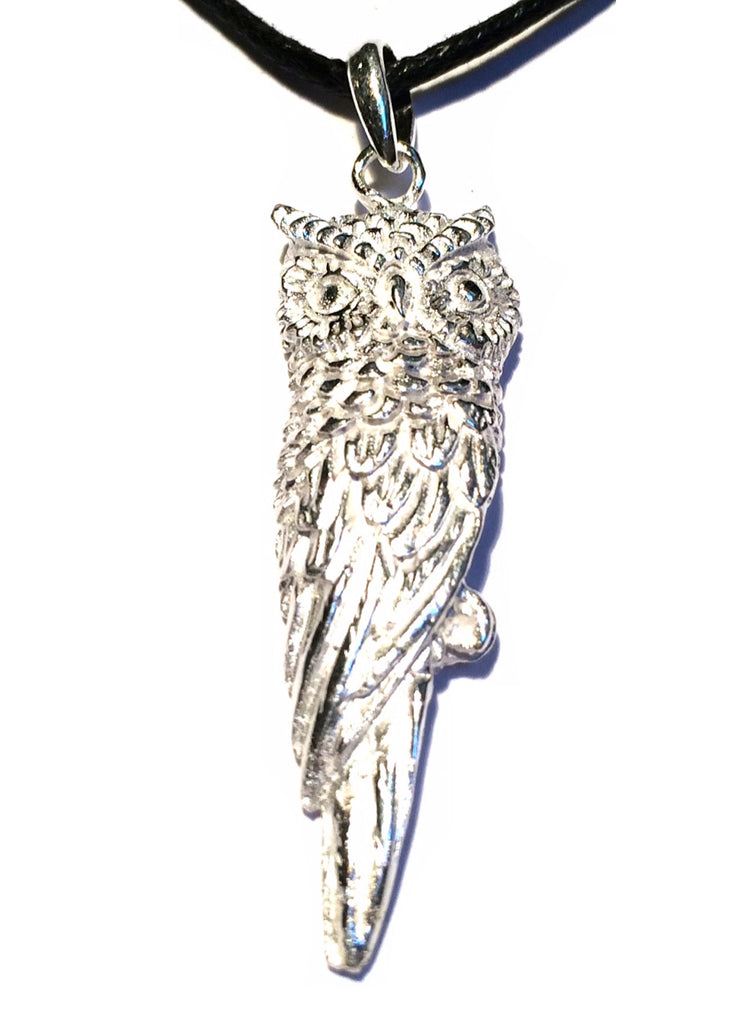 Owl Silver Pendant necklace