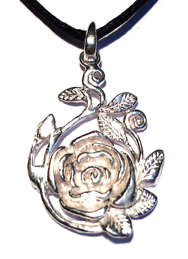 Rose Silver Pendant necklace