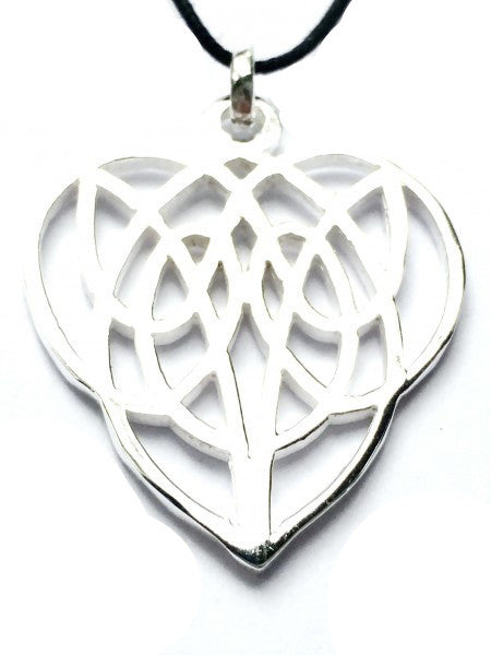 Tribal Celtic Heart Silver Pendant necklace