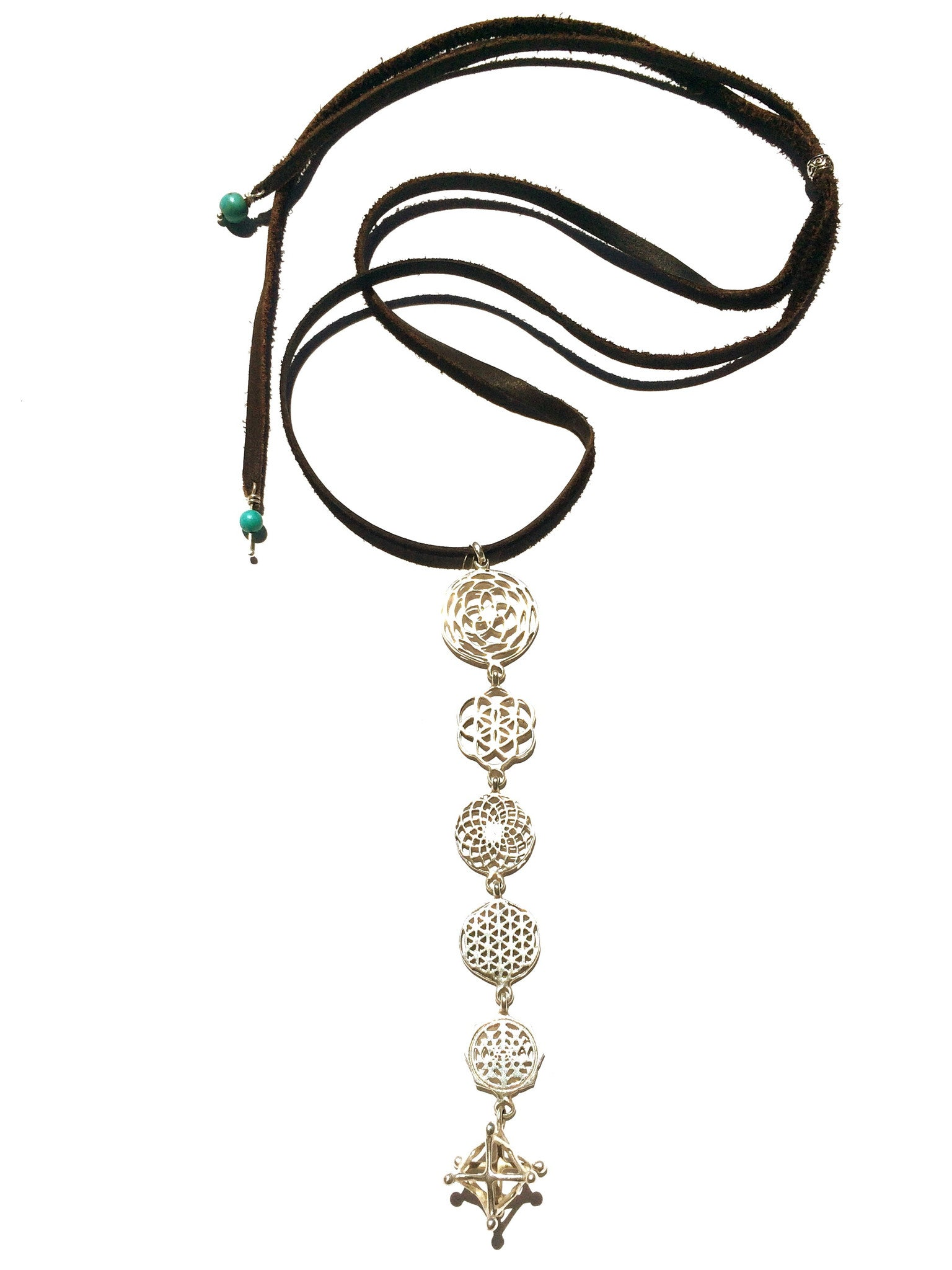 Sterling silver sacred geometry interlinked necklace heart mala sacred geometry symbols handcrafted from 925 sterling silver hangs beautifully from a silver chain with biocorpaavc Images