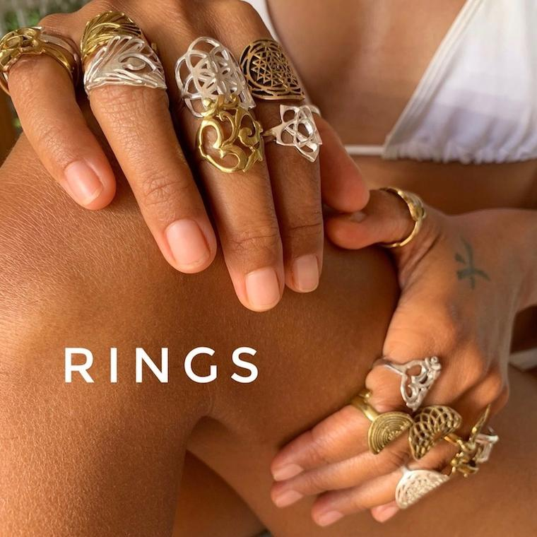 Brass & Silver rings