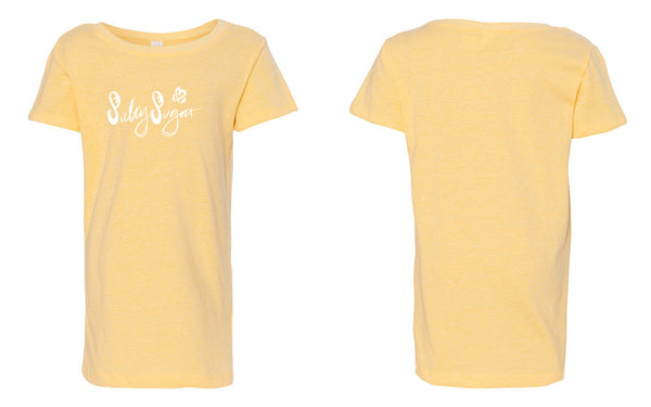 Girls Baby Doll Tee, Salty Sugar Scribble Text