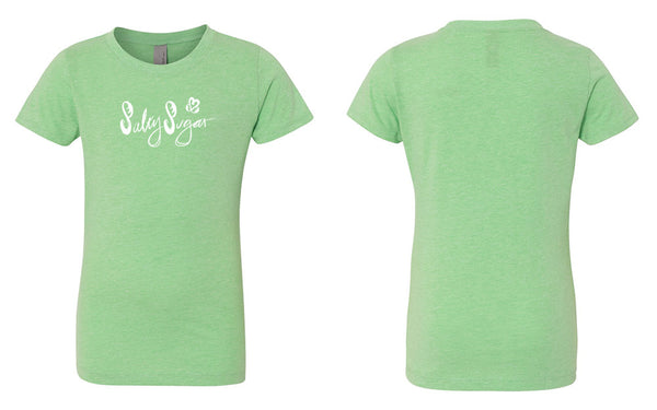 Girl's Baby Doll Tee, Salty Sugar Scribble Text