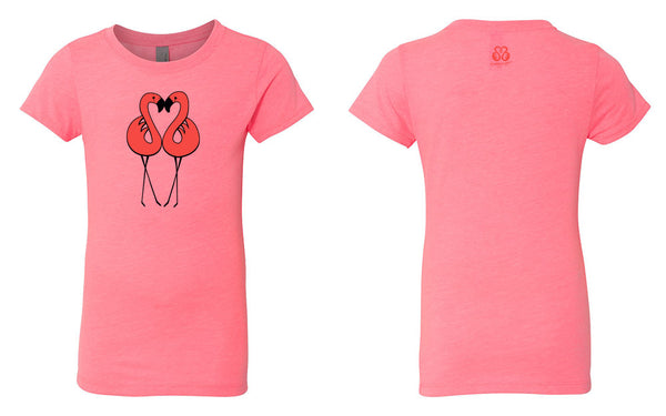 Girl's Baby Doll Flamingo Tee