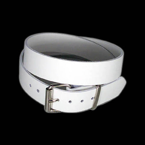 "Funk Plus - 1 1/2"" Wide Plain White Belt"