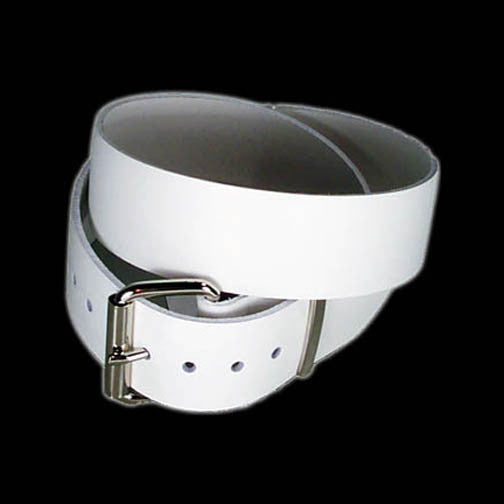 "Funk Plus - 1 3/4"" Wide Plain White Belt"