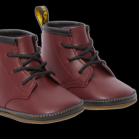 Dr Martens - Newborn Cherry Leather Crib Shoe