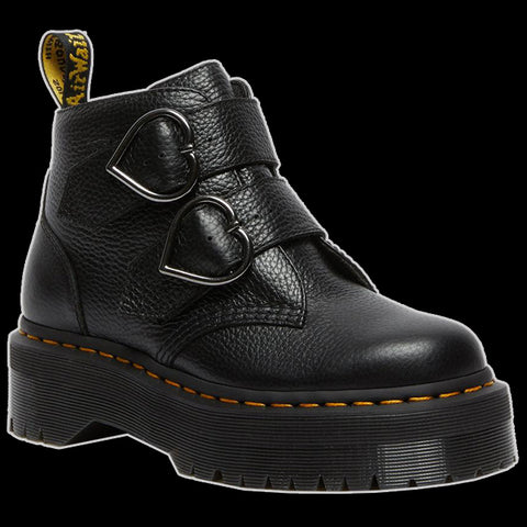 Dr Martens - Black Devon Heart Buckle Boot