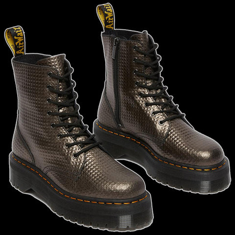 Dr Martens - GUNMETAL JADON STUD EMBOSS LEATHER BOOT