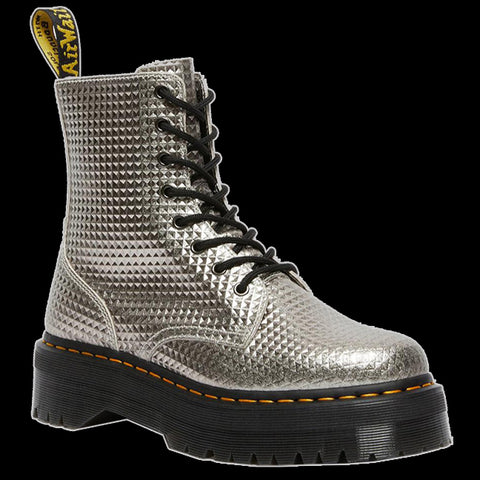 Dr Martens - SILVER JADON STUD EMBOSS LEATHER BOOT