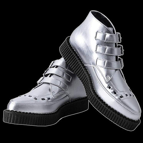 TUK - Silver 3-Buckle Pointed Creeper Boot