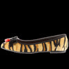 Demonia - VAIL-02 Tiger Print Faux Hair Flats