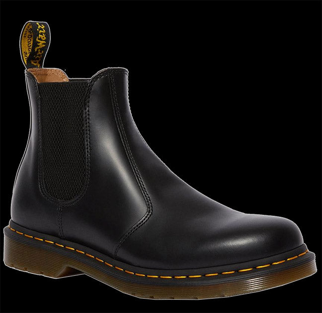 black Smooth yellow stitch Chelsea Boot