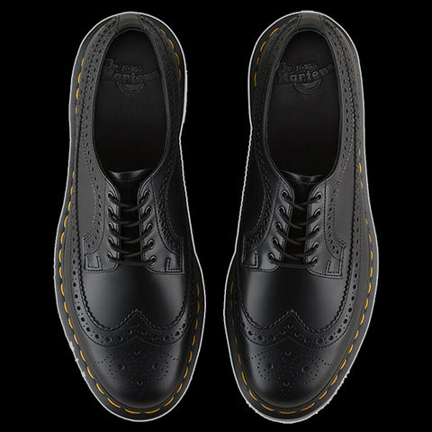Dr Martens - 3989 Black Wingtip Yellow Stitch