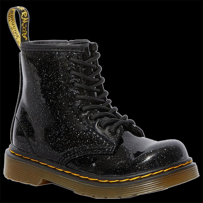 Dr Martens - TODDLER 1460 BLACK GLITTER