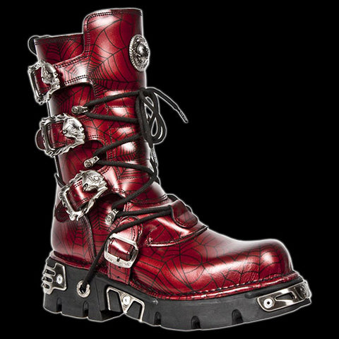 New Rock - Widow Skull Buckle Boot