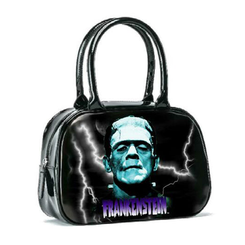 Rock Rebel - Black & Blue Universal Monsters Frankenstein Bowler Handbag