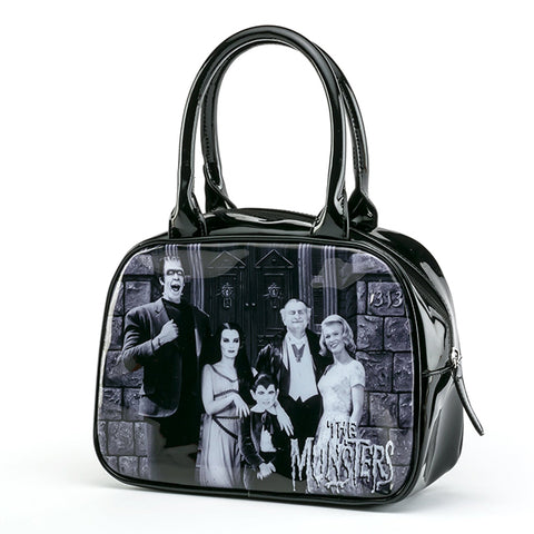 Rock Rebel - Munsters Family Bowler Handbag