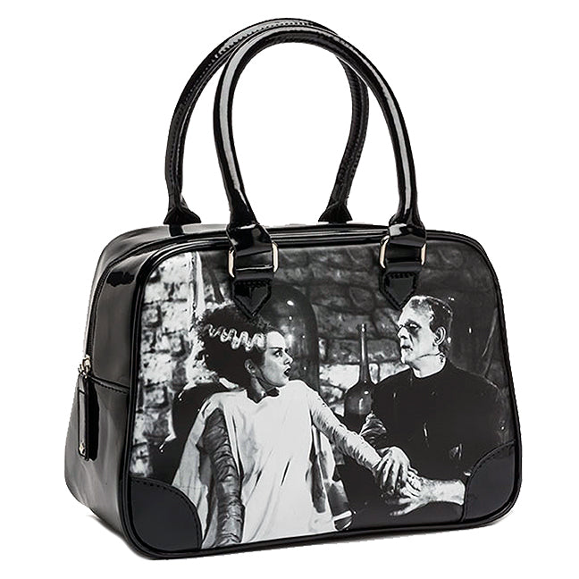 "Rock Rebel - The Bride Of Frankenstein ""We Belong Dead"" Bowler Handbag"
