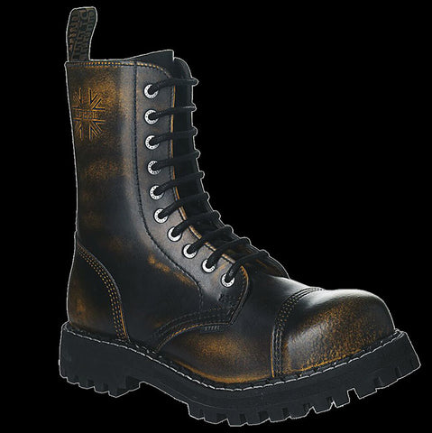 STEEL - 10 Eyelet Yellow Steel-Toe Boot
