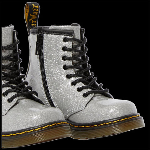 Dr Martens - TODDLER 1460 WHITE GLITTER