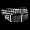 Funk Plus - 3 Row Silver Conical Stud Belt