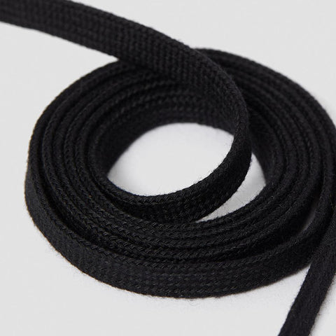 8-10 Eyelet Black Flat Laces (140 cm / 55 in)