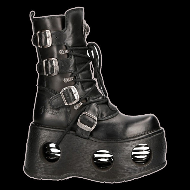 New Rock - ReCoil 4 Buckle Spring Platform Boot