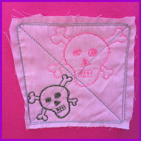 Babysitter's Nightmare - Pink Skull Patch Dress