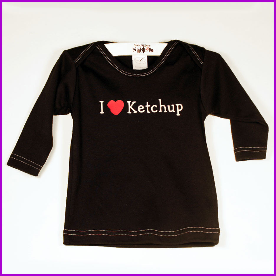 Babysitter's Nightmare - I Love Ketchup Long Sleeve Lap Tee