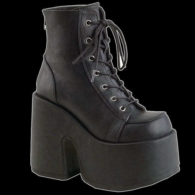 Demonia Black Gothic Punk Rock Lace Up Platforms Ankle Heels Boots Cam203//bvl