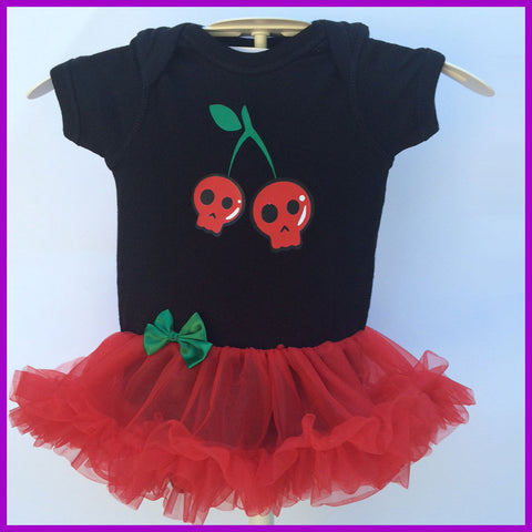Babysitter's Nightmare - Skull Cherries Tutu Dress
