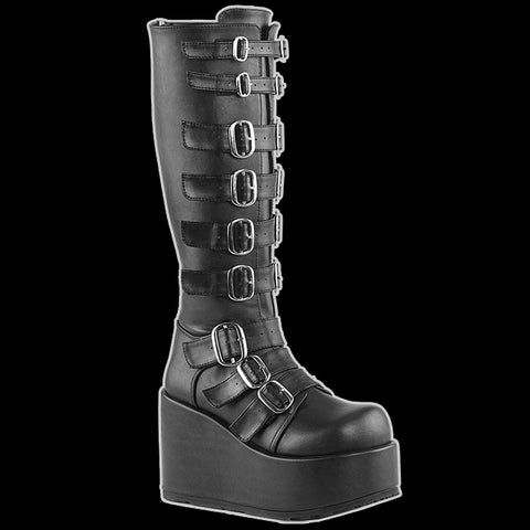 Demonia - Concord Black Platform Wedge Boot