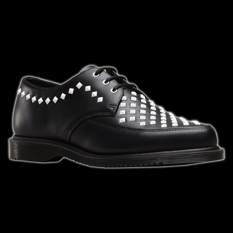 Dr Martens - 3 Eyelet Black Willis Stud Creeper Shoe