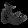 Demonia - DYNAMITE-02 Black Vegan Leather Sandal