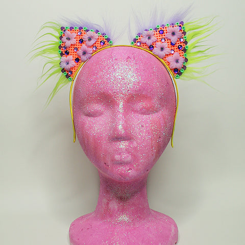 Kandi Kitten Ears Flower Power