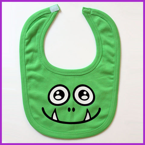 Babysitter's Nightmare - Green Monster Bib