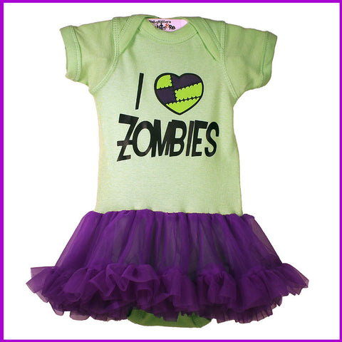 Babysitter's Nightmare - I Heart Zombies Tutu Dress